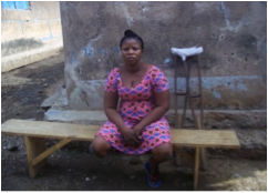 Meet Akorfa Agbemefle. She is a young seamstress who has had her leg amputated. She is in need of an assistive device.